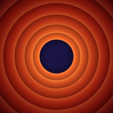 hush: The final screen of the movie. Retro background, illustration Illustration