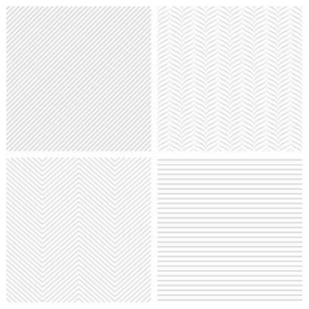 Ensemble de motifs à rayures géométriques abstraites. arrière-plans sans soudure
