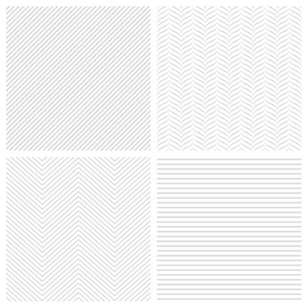 Set of geometric abstract striped patterns. seamless backgrounds Illustration