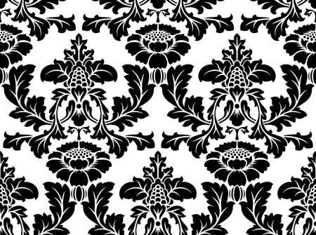 Vector naadloze damast patroon. Sierlijke vintage achtergrond Vector Illustratie