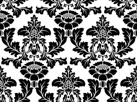 Vector patrón de damasco sin fisuras. Fondo adornado vendimia Ilustración de vector