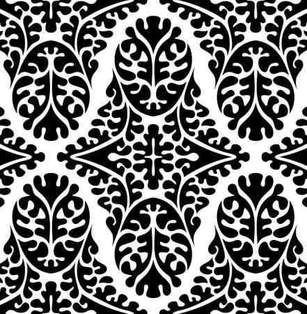 verschnörkelt: Vektornahtloses Damast-Muster. Kunstvolle Jahrgang Hintergrund