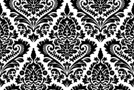 baroque background: Vector seamless damask pattern. Ornate vintage background Illustration