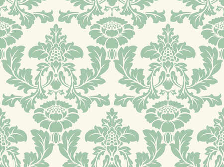 wallpaper floral: Vector seamless damask pattern. Ornate vintage background Illustration