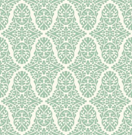 free background: Vector seamless damask pattern. Ornate vintage background Illustration