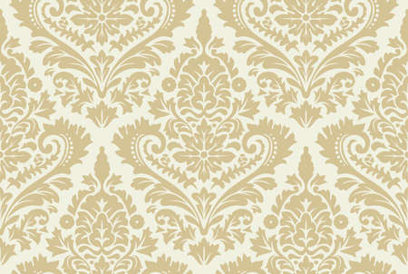 decorative background: Vector seamless damask pattern. Ornate vintage background Illustration