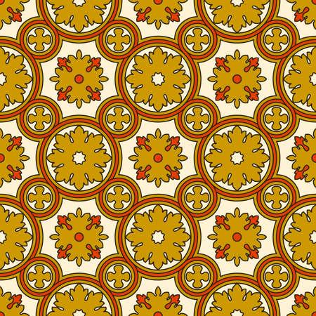renaissance: Abstract seamless ornamental vector pattern. Renaissance decorative wallpaper. Vintage background Illustration