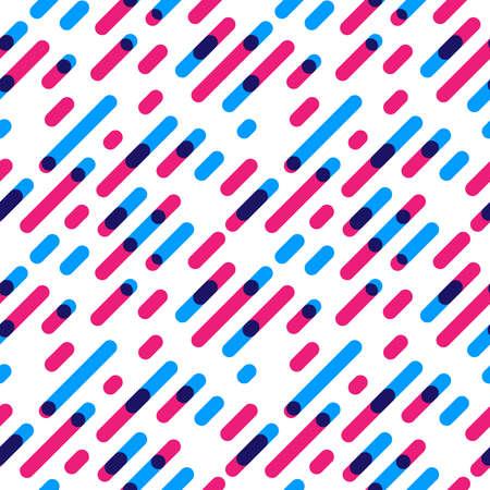Nahtlose Muster Overlap Diagonal Graphic Streifen mit runden Ecken. Vektor-Illustration Vektorgrafik