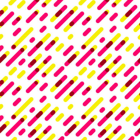 graphic pattern: Seamless Pattern Overlap Diagonal Graphic Stripes with Round Corners. Vector illustration Illustration