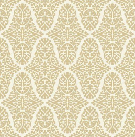 Vector seamless damask pattern. Ornate vintage background Illustration