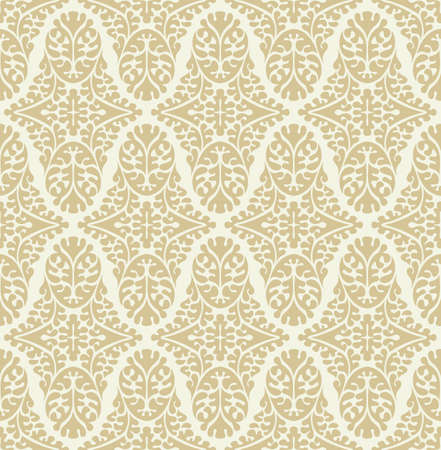 vintage pattern background: Vector seamless damask pattern. Ornate vintage background Illustration
