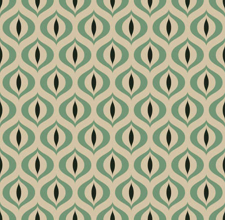 retro pattern: Retro Geometric seamless pattern Cats eye. illustration