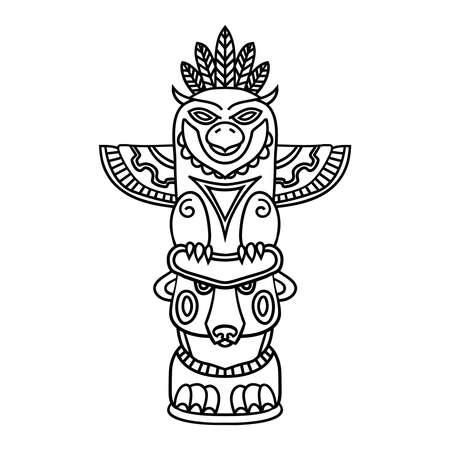 Garabatos Tótem Tribal Tradicional En El Fondo De Las Plantas, Libro ...