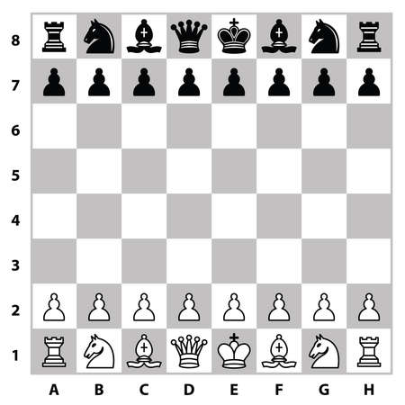 chess rook: Chess pieces on a chess board. Vector illustration