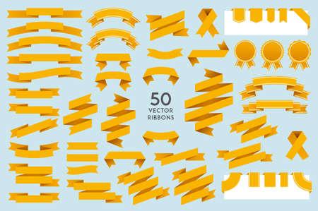 Vector Linten. Set van 50 linten Vector Illustratie