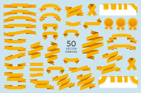 Vector Ribbons. Set of 50 ribbons