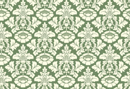 royal rich style: Vector seamless floral damask pattern. Rich ornament, old Damascus style. Royal victorian seamless pattern for wallpapers, textile, wrapping, wedding invitation. Damask woman pattern