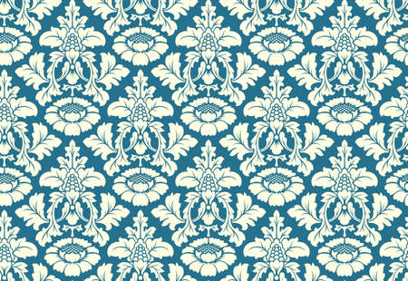 damascus: Vector seamless floral damask pattern. Rich ornament, old Damascus style. Royal victorian seamless pattern for wallpapers, textile, wrapping, wedding invitation. Damask woman pattern