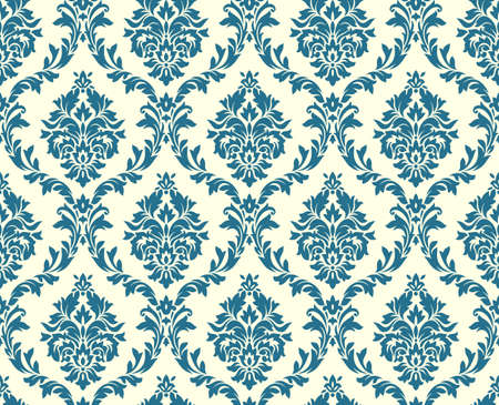 old style: Vector seamless floral damask pattern. Rich ornament, old Damascus style. Royal victorian seamless pattern for wallpapers, textile, wrapping, wedding invitation. Damask woman pattern