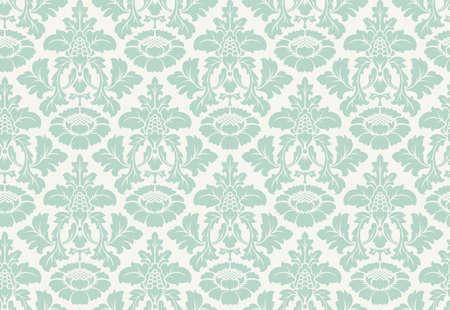 sin patrón damasco floral del vector. ornamento rico, estilo antiguo de Damasco. Modelo inconsútil de la Royal Victorian para fondos de pantalla, textil, embalaje, invitación de la boda. patrón de la mujer del damasco