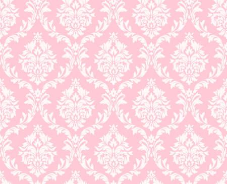 Vector seamless damassé florale. ornement Rich, le style de Damas vieux. seamless victorian royal pour les papiers peints, textile, emballage, invitation de mariage. modèle de femme de damassé Banque d'images - 59140415