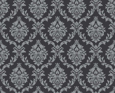 sin patrón damasco floral del vector. ornamento rico, estilo antiguo de Damasco. Modelo inconsútil de la Royal Victorian para fondos de pantalla, textil, embalaje, invitación de la boda. patrón de la mujer del damasco Ilustración de vector
