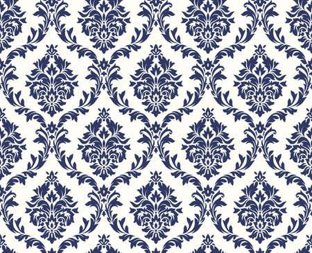 Vector naadloze bloemendamastpatroon. Rich ornament, oude stijl Damascus. Royal Victorian naadloos patroon voor wallpapers, textiel, het verpakken, huwelijksuitnodiging. Damast vrouw patroon