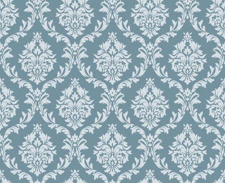 Vector seamless damassé florale. ornement Rich, le style de Damas vieux. seamless victorian royal pour les papiers peints, textile, emballage, invitation de mariage. modèle de femme de damassé