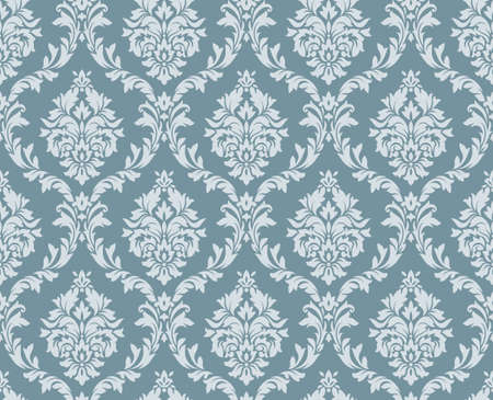 victorian woman: Vector seamless floral damask pattern. Rich ornament, old Damascus style. Royal victorian seamless pattern for wallpapers, textile, wrapping, wedding invitation. Damask woman pattern