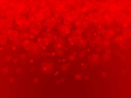 fondo rojo: Día de San Valentín. fondo de los corazones de color rojo. ilustración vectorial Vectores