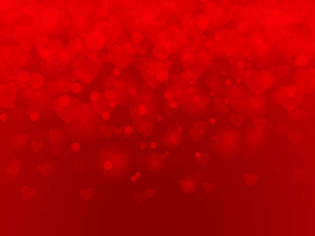 Valentine's day. Red hearts background. Vector illustration