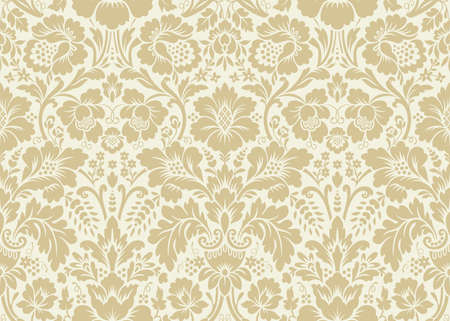 Vector Seamless Floral Damask Pattern Rich Ornament Old Damascus Fascinating Damask Pattern