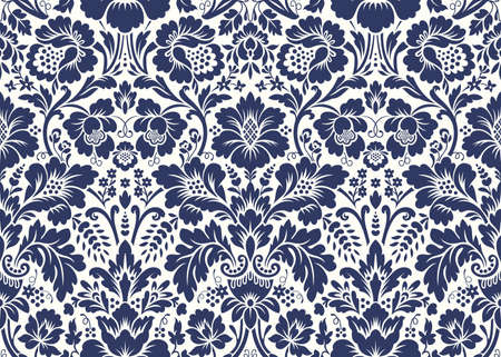 Vector seamless floral damask pattern. Rich ornament, old Damascus style. Royal victorian seamless pattern for wallpapers, textile, wrapping, wedding invitation Reklamní fotografie - 68981264
