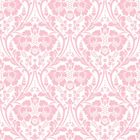 Vector seamless floral damask pattern. Rich ornament, old Damascus style. Royal victorian seamless pattern for wallpapers, textile, wrapping, wedding invitation Vetores