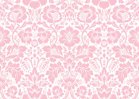 victorian vintage: Vector seamless floral damask pattern. Rich ornament, old Damascus style. Royal victorian seamless pattern for wallpapers, textile, wrapping, wedding invitation Illustration