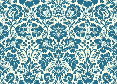 Vector seamless floral damask pattern. Rich ornament, old Damascus style. Royal victorian seamless pattern for wallpapers, textile, wrapping, wedding invitation