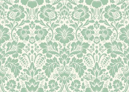 Vector seamless damassé florale. ornement Rich, le style de Damas vieux. seamless victorian royal pour les papiers peints, textile, emballage, invitation de mariage