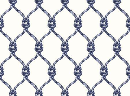 로프 원활한 fishnet 패턴을 연결합니다. 벡터 바탕 화면