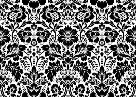 Vector seamless damassé florale. ornement Rich, le style de Damas vieux. seamless victorian royal pour les papiers peints, textile, emballage, invitation de mariage Vecteurs