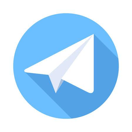 telegrama: Plano de papel Icono plana. ilustración vectorial