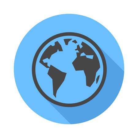flat earth: Earth icon. Flat Design vector icon