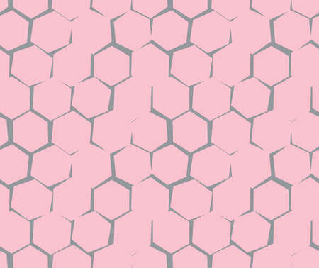 unequal: Abstract pattern of unequal cracks hexagons. Vector Wallpaper Illustration