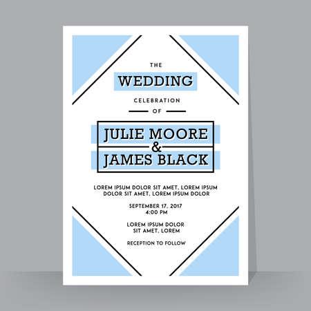 illustration invitation: Retro Wedding Invitation template. Tradition decoration for wedding. Vector illustration