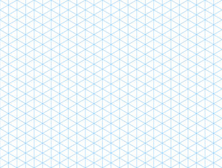 Seamless isometric blue grid backdrop. Template for your design.