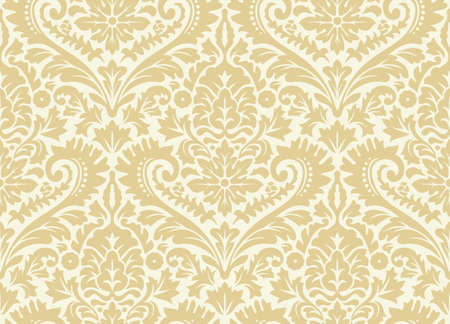 Vector seamless damask pattern. Rich ornament, old Damascus style pattern for wallpapers, textile, Scrap booking etc.