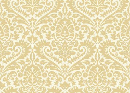 Vector sin patrón de Damasco. Adorno rico, patrón antiguo de Damasco para papeles pintados, textiles, reserva de chatarra, etc. Ilustración de vector