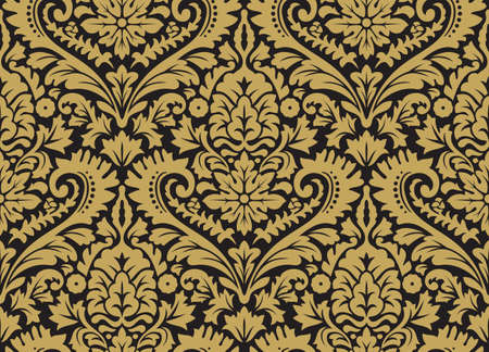 Damask vector seamless pattern. Rich ornament, old Damascus style pattern for wallpapers, textile, scrap booking, etc.