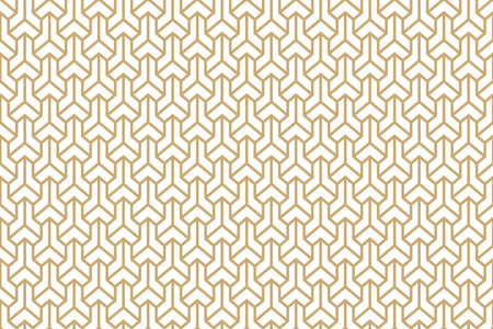 Ethnic seamless geometric three-dimensional pattern vector ornament Japanese pattern.