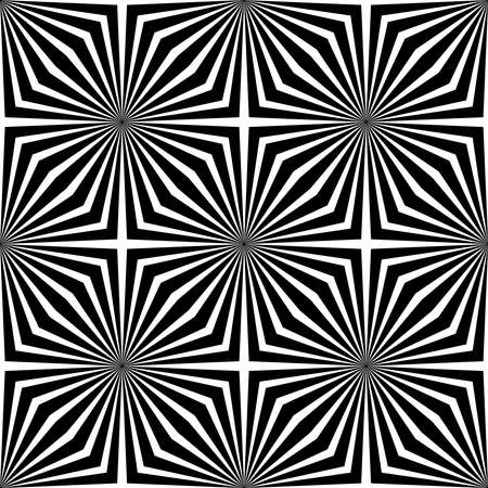 Black and White Abstract Geometric Background. Pattern With Optical Illusion. Vector Illustration