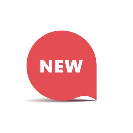 Red round sticker Banner New. Vector Illustration Illustration